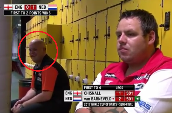 Priceless Moment With Van Gerwen And Lewis At World Cup of Darts