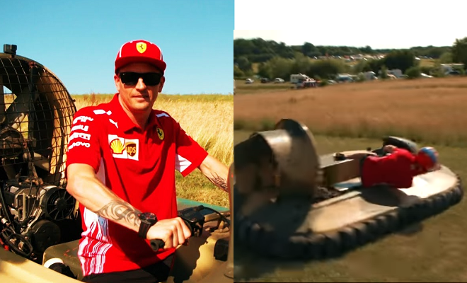 Kimi Raikkonen Goes Hovercraft Racing With Sky Sports F1