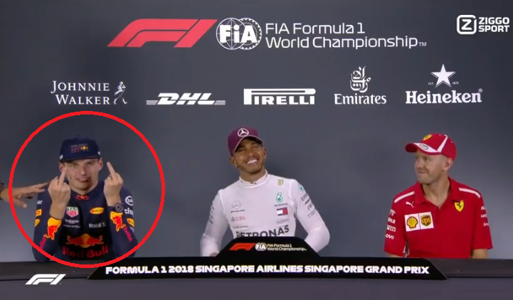 Max Verstappen Had A Message During Press Conference Singapore