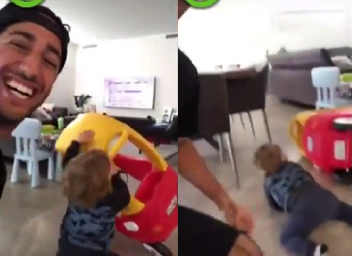 Daniel Ricciardo Turns Out To Be Worst Babysitter Ever