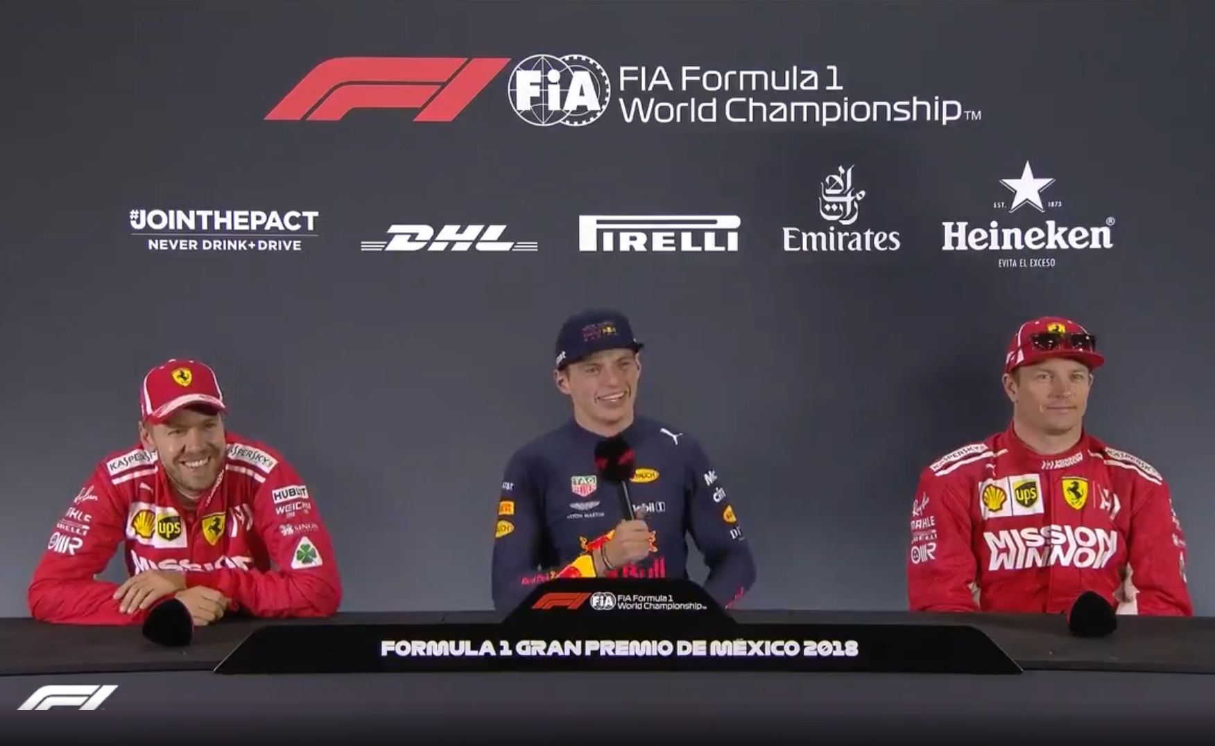 When Fernando Alonso Has A Question During Press Conference Mexico