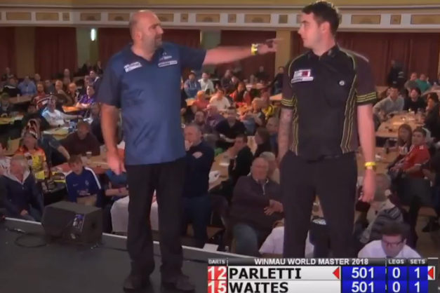Scott Waites And Dave Parletti Oche Incident At Winmau World Masters