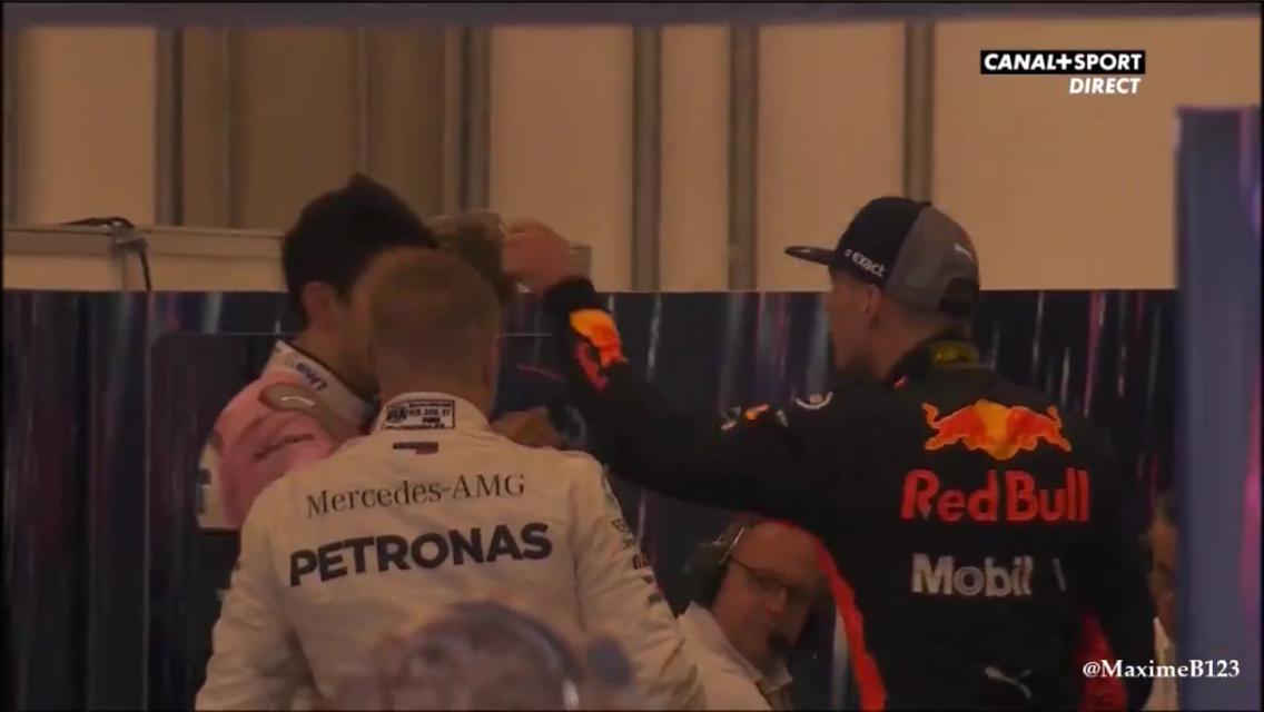 Watch Max Verstappen Pushing Estaban Ocon Backstage