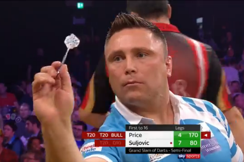Gerwyn Price Goes Nuts After Hitting Big Fish At Grand Slam