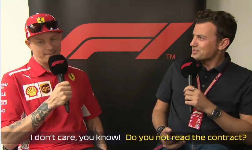 Kimi Raikkonen's Hilarious Interview In Brazil