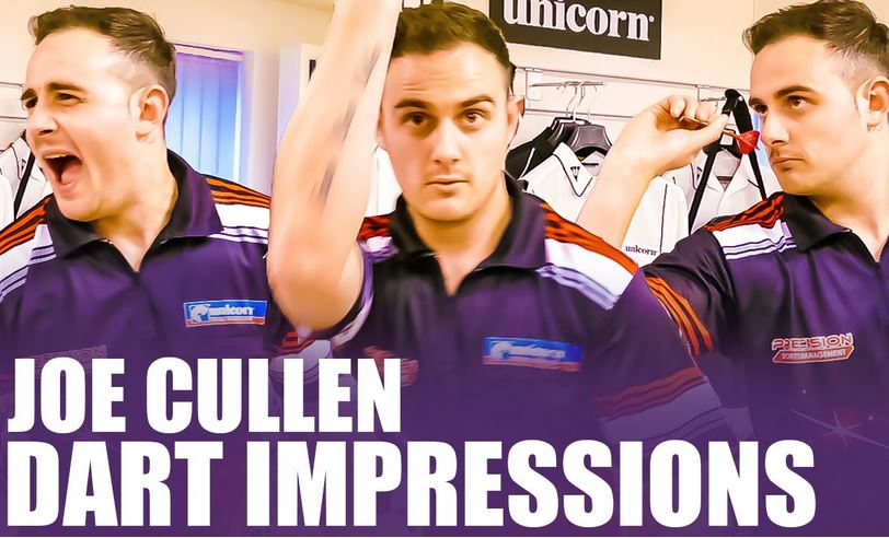 Joe Cullen Impersonates His Fellow Pro Dart Players