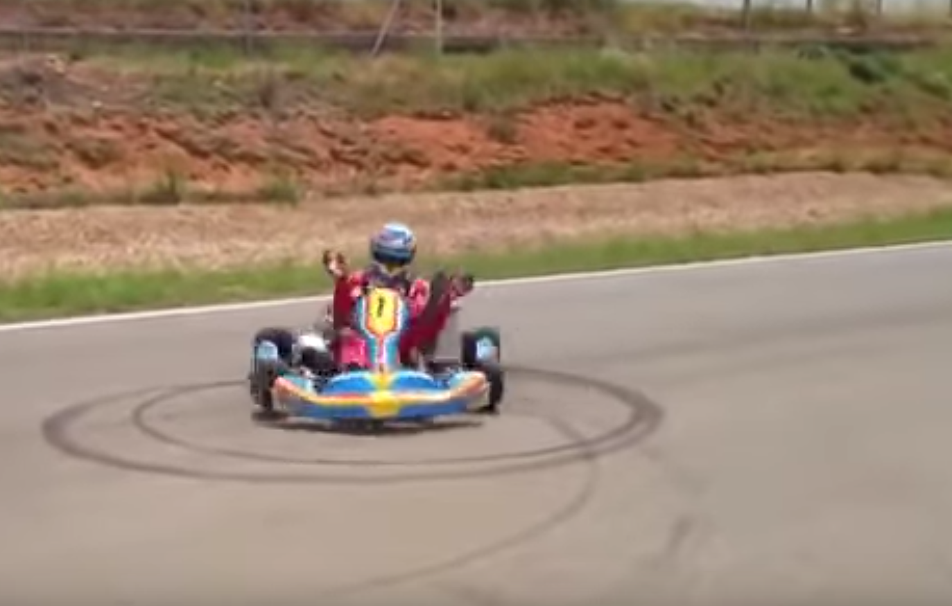 Watch This No Handed Go-kart Donuts by Fernando Alonso