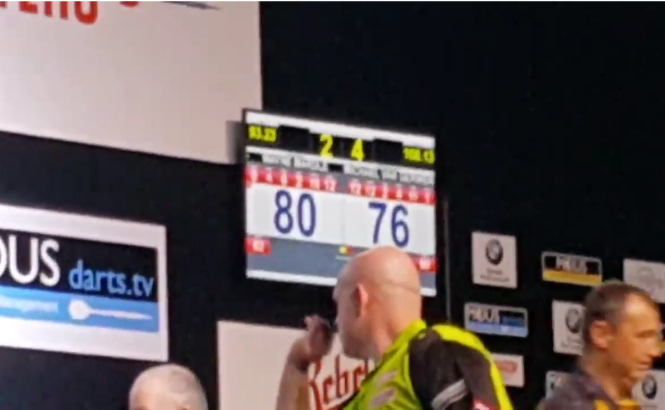 Van Gerwen Hits Double Double Checkout Against Mardle in Prague