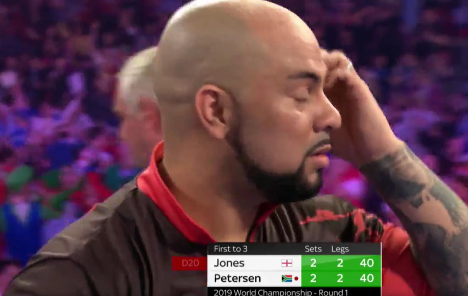 Watch Petersen And Jones Missing Massive 13 Match Darts