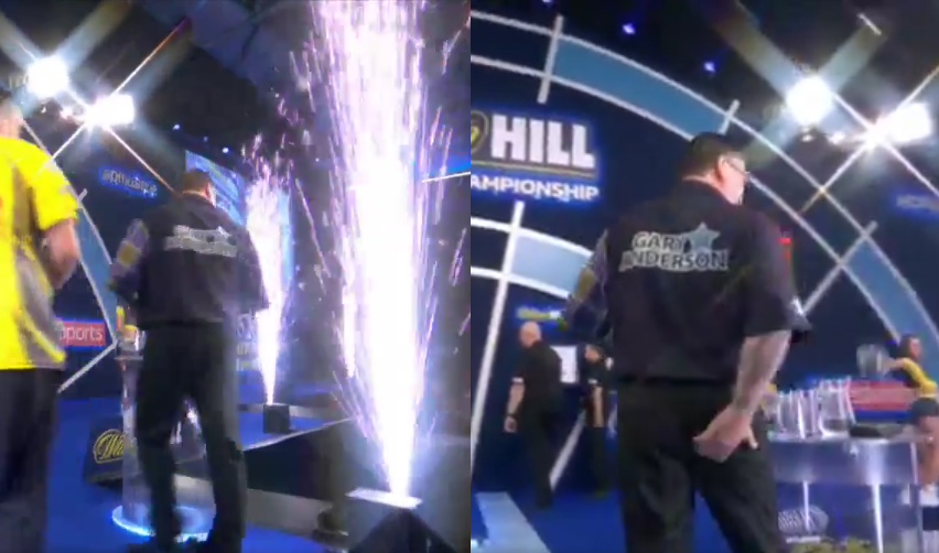 Gary Anderson Almost Got Hit by Fireworks On Stage