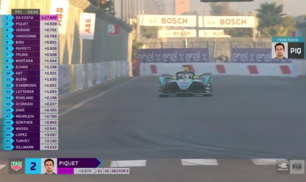Nelson Piquet JR. Calling Felipe Massa an Amature in FP1 Marrakesh E-Prix
