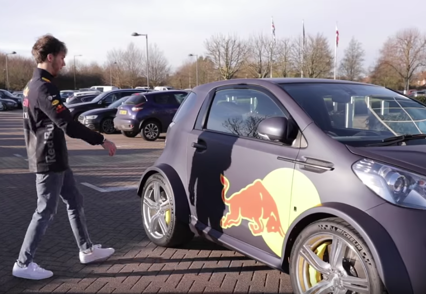 Pierre Gasly Arrives In Style For First Day at Red Bull Racing Factory