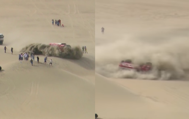 Truck Crash At Dakar During Stage 3