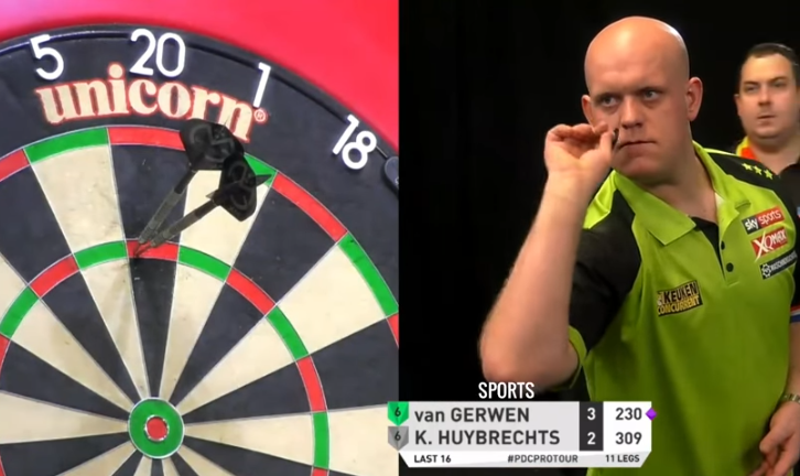 Van Gerwen Shows Exhibition Darts With 10-Darter on Bulls-eye