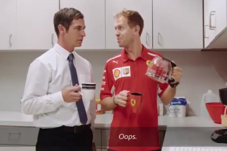 Watch Sebastian Vettel In UPS Commercial