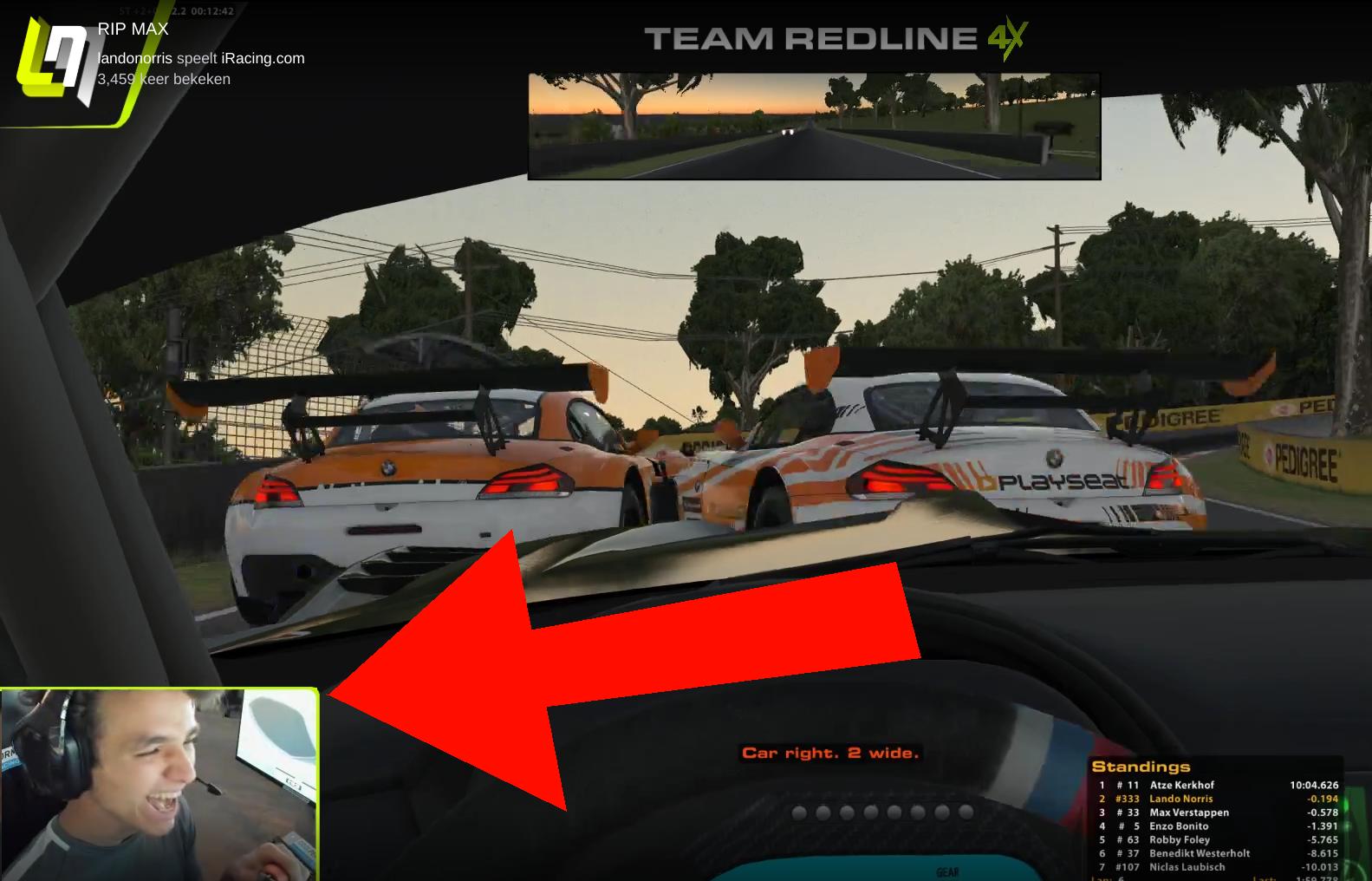 Max Verstappen And Lando Norris Having Fun Crashing At iRacing