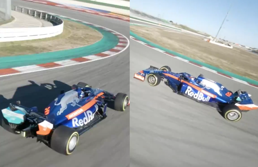 Watch Awesome Drone Footage of F1 2019 Toro Rosso in Action