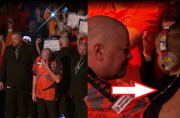 Van Barneveld Gives His Necklace To Grandson During Emotional Last Walk On