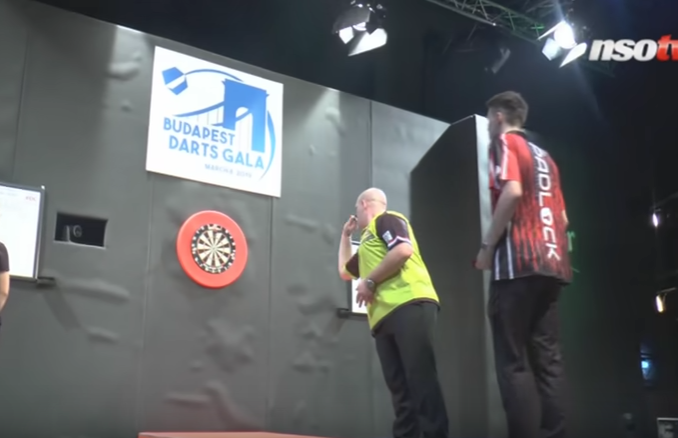 Michael van Gerwen In Action At Budapest Darts Gala 2019