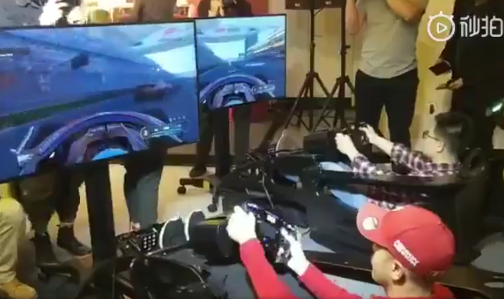 Sebastian Vettel Spinning Again During Sim Battle In China