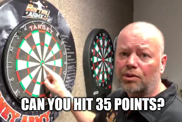 Can You Hit 35 Points In This Game Used By Professional Darts Players?