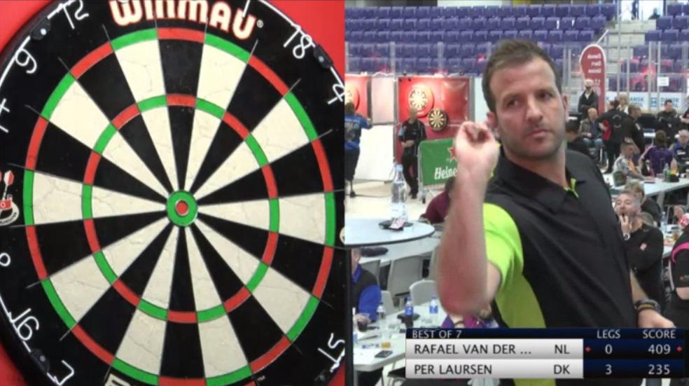 Rafael van der Vaart Hits Funny '180' At Stage Denmark Masters