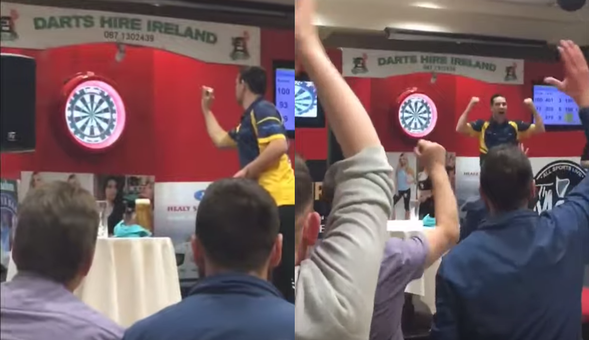William O'Connor Hits 9 Darter At Local Tournament In Ireland