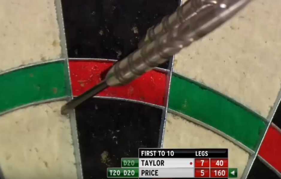 VIDEO: Got 95 points left and 1 dart in hand. How to leave 40?