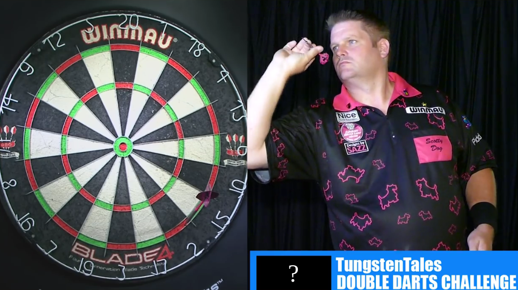 Scott Mitchell Plays 'The Double Darts Challenge' In 60 Seconds