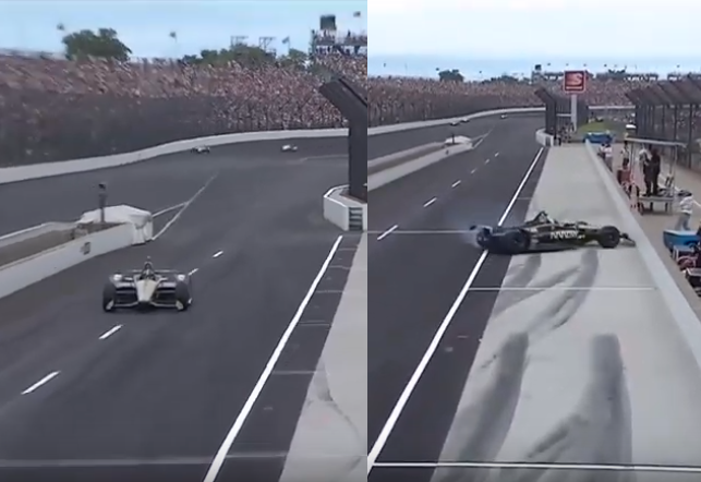 Former F1 Driver Marcus Ericsson Crashed Into Pitlane During Indy 500