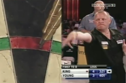 Watch Mervyn King Hitting World Record Of 4 Times 180 In A Row