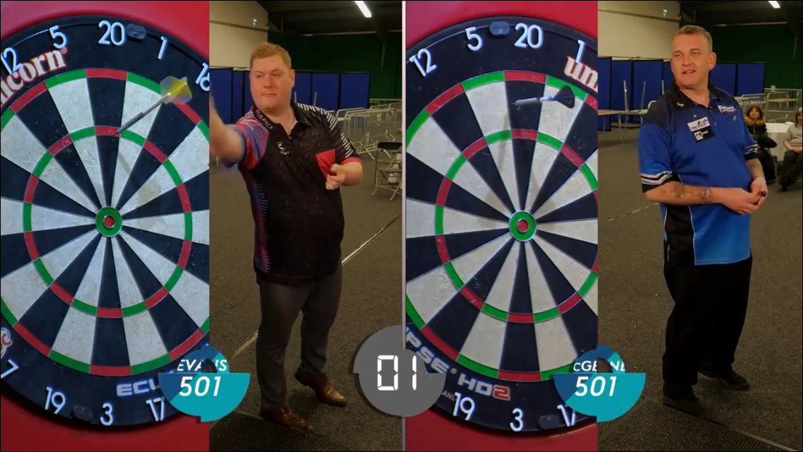 Watch Ricky Evans Trying To Beat Jelle Klaasen's Speed Darts Record