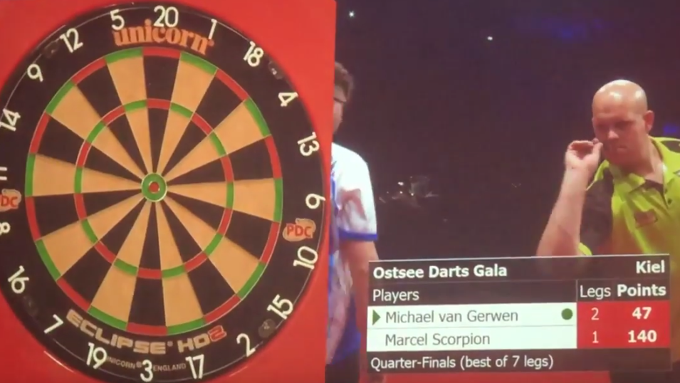 Watch Michael van Gerwen Hit A Never Before Seen Checkout