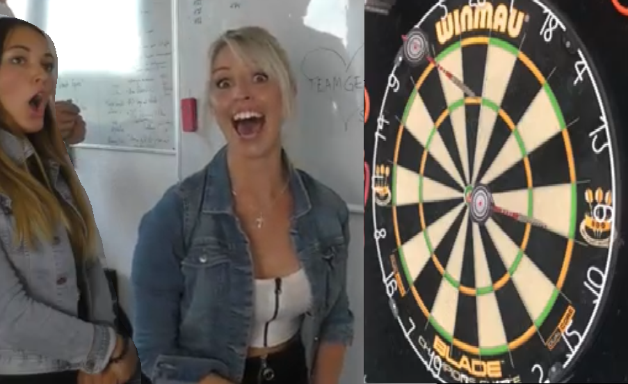 When Your Girlfriend Finally Hits A Triple 20 On The Dartboard