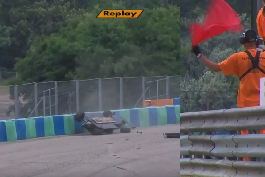Red Flag At Italian F4 Championship 2019 After Big Crash Axel Gnos