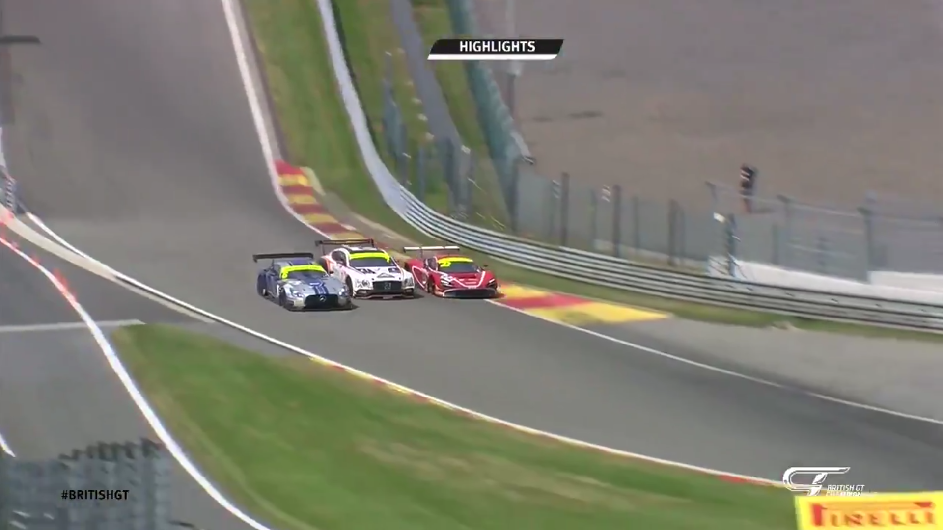 Today These British GT Cars Went Three Wide Through Eau Rouge