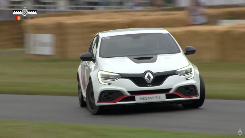 Watch Daniel Ricciardo's Crazy Handbrake Hillclimb at Goodwood