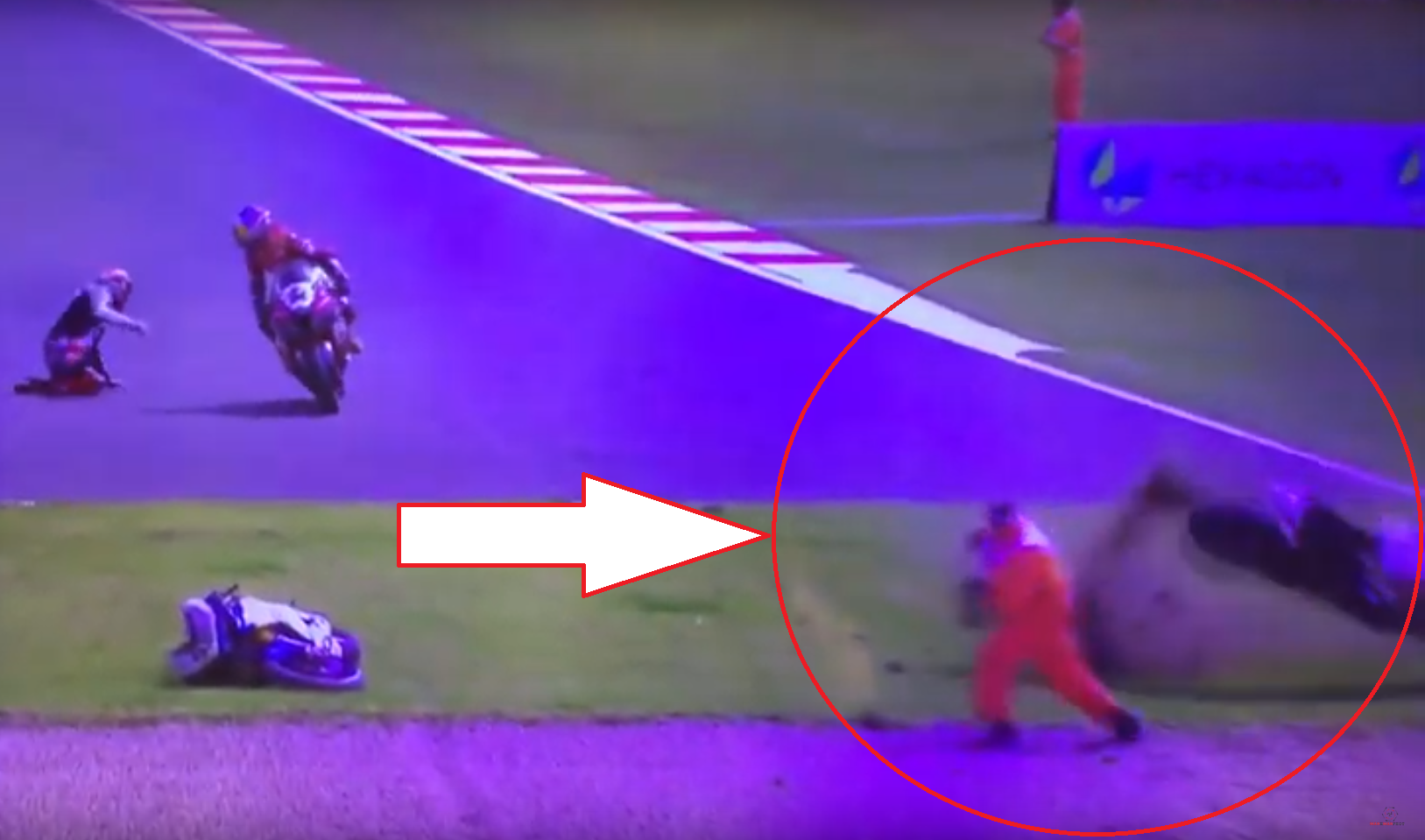 This Marshall Got Lucky During World Superbike Championship