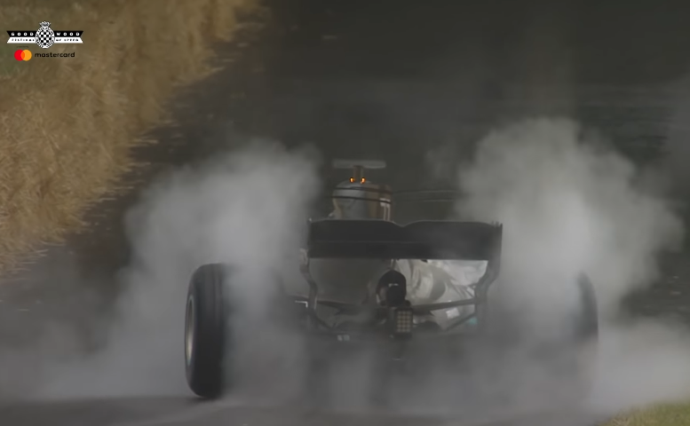 Valtteri Bottas Destroys His Mercedes WO8 F1 Tyres at Goodwood