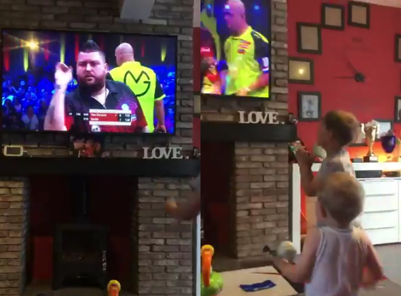 Watch Priceless Reaction By Michael Smiths' Son After 'Daddy Beats MVG!'