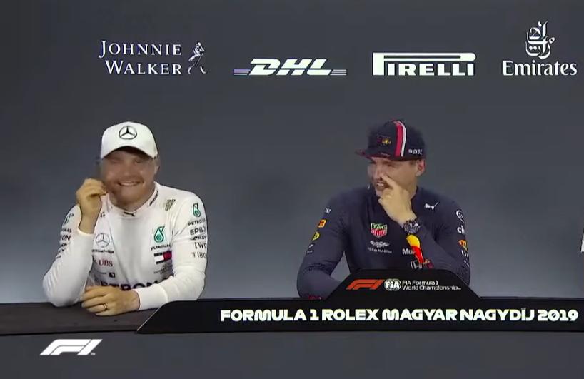 Funny Moment Between Verstappen & Bottas About Practice Starts