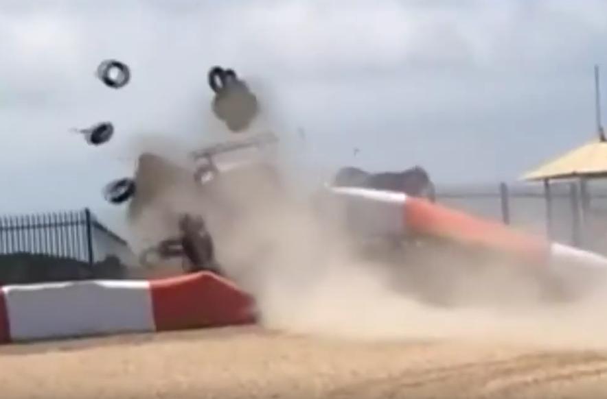 Horror Crash Over Barrier During Porsche Carrera Cup Brasil 2019