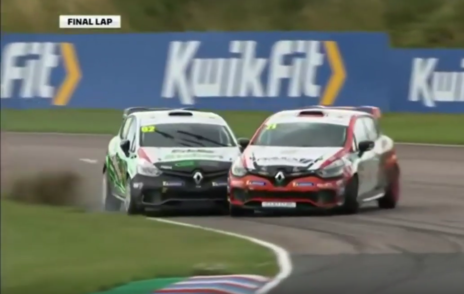 Watch How This Battle For The Lead Had A Surprising End In Last Lap
