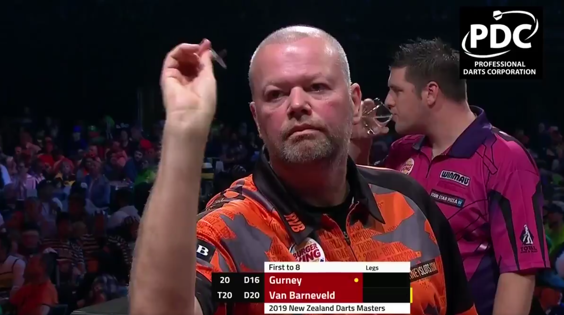 Watch Last Darts Van Barneveld v Gurney At New Zealand Darts Masters