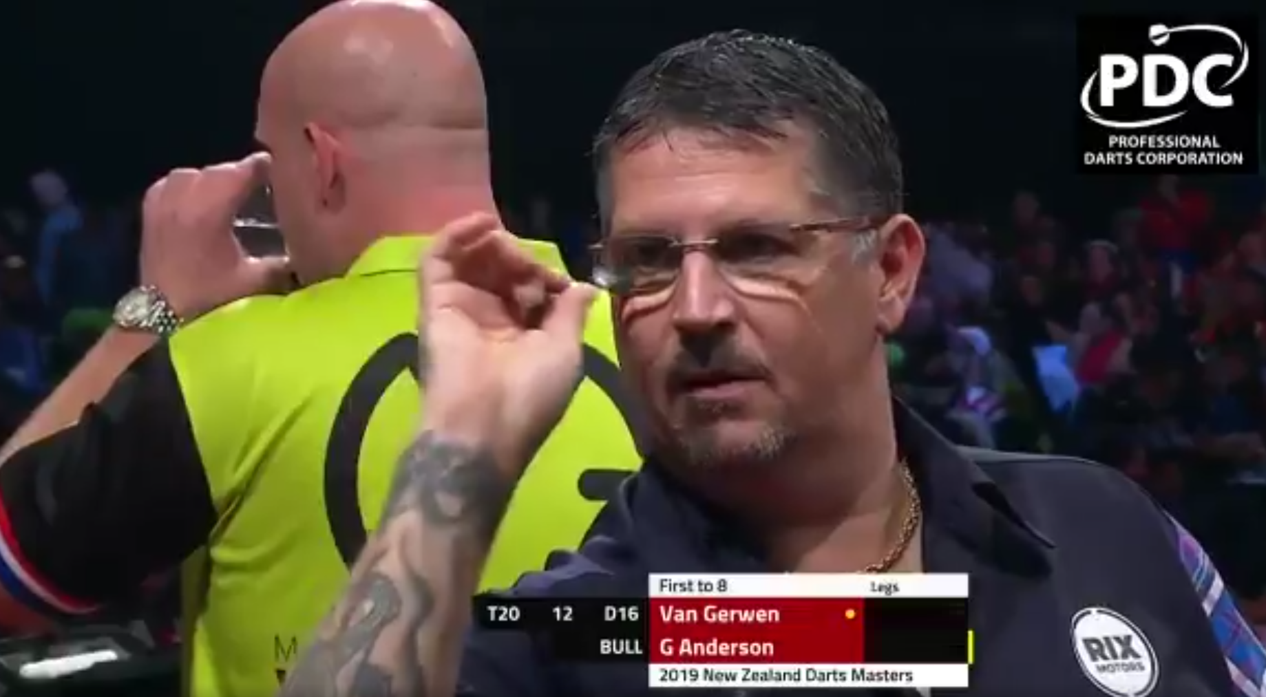 Watch Last Darts Van Gerwen v Anderson At New Zealand Darts Masters