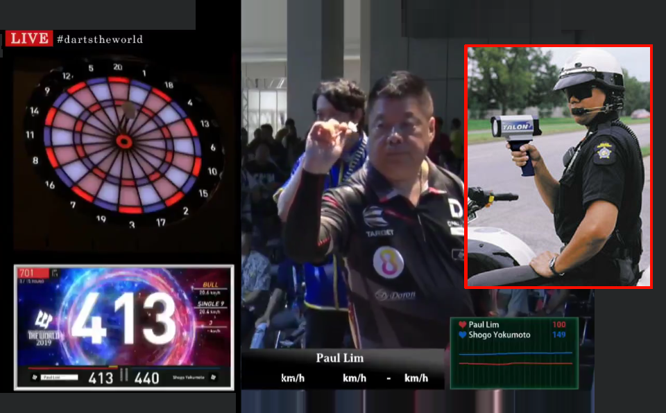 Watch Speed Of Darts With Radar Gun During Darts Match