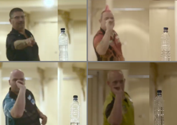 PDC Players Doing Bottle Cap Challenge With Their Darts