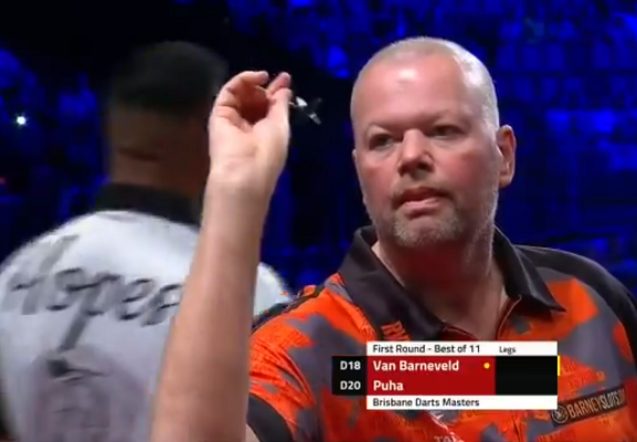 Watch Last Darts Van Barneveld v Puha At Brisbane Darts Masters