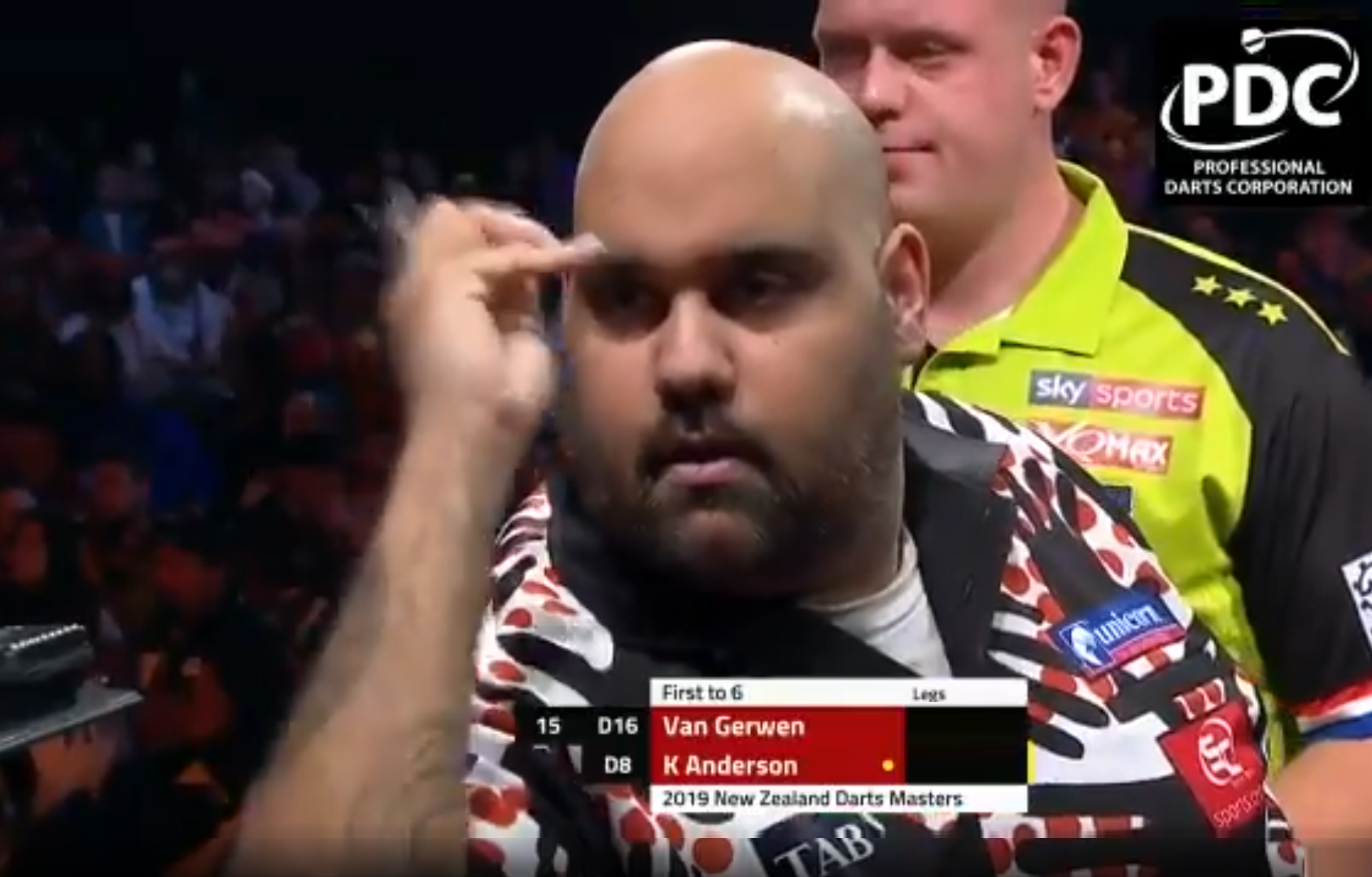 Watch Last Darts Van Gerwen v Anderson At New Zealand Darts Masters