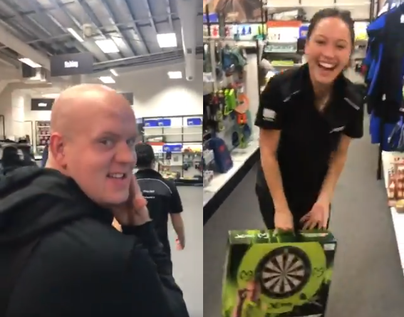 When The World Number 1 Goes Shopping For Darts